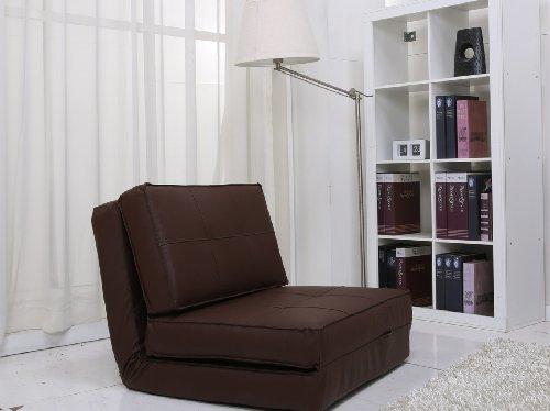 Artdeco Sessel, ausklappbar, tiefer Sessel aus Kunstleder, verschiedene Farben und Größen