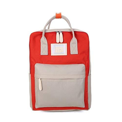 HUAAT -Backpack Juveniles de Moda Mochilas Bolsa de Hombro del Ordenador del Estilo Coreano Mochila for Viajar niñas Adolescentes Varones DIY (Color : Orange, Size : XL)