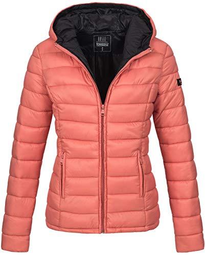 Marikoo Damen Jacke Steppjacke Übergangsjacke gesteppt B651 [B651-Luc-Coral-Gr.S]