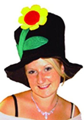 Mondial-Fete - Chapeau Flanelle Hippie avec Fleur