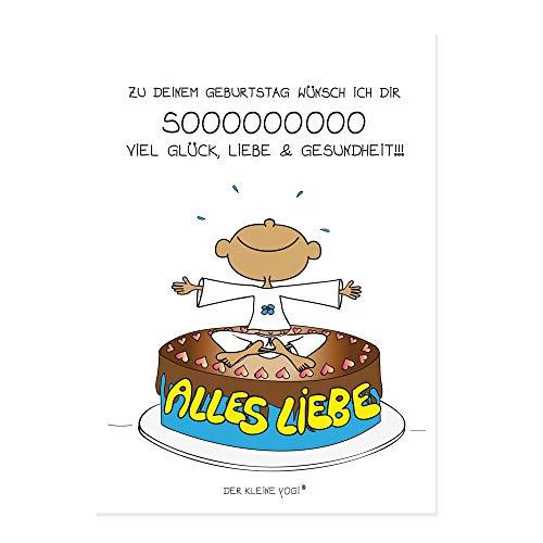 DER KLEINE YOGI: 5 STÜCK Postkarten - Zu Deinem Geburtstag