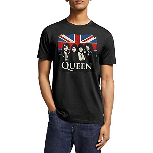Queen Band Members and British Flag T-shirt, S to XXL