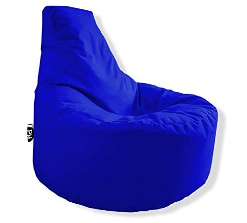 Patchhome Gamer Kissen Lounge Kissen Sitzsack Sessel Sitzkissen In & Outdoor geeignet fertig befüllt | Blau - Ø 75cm x Höhe 80cm - in 2 Größen und 25 Farben