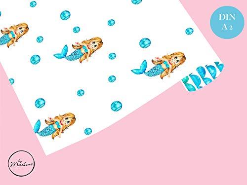 Geschenkpapier Meerjungfrau, Geschenkpapier für Kinder