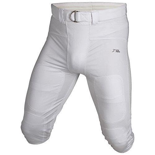 Active Athletics American Football Hose, Gamepants No Fly (mit breitem Gürtel) - weiß M