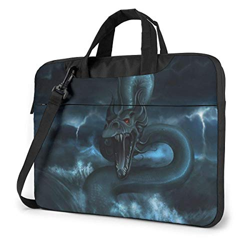 Neoprene Laptop Sleeve Case, Chinese Dragon in The Water Portable Laptop Bag Business Laptop Shoulder Messenger Bag Protective Bag 14 Inch