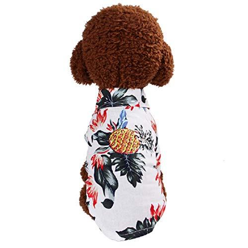 Koojawind Pet Sommer Kleidung Rock Blumendruck Cute Pet Puppy Weste Kleidung Shirt Baseball Strand Hund T-Shirt FüR Outdoor-AktivitäTen