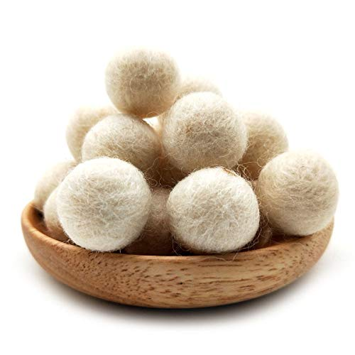 60 Pcs Felt Ball Garland Wool Felt Balls, Christmas Decoration Felt Ball Garland Felt Pom Pom Balls Crafts 2 Centimeters 0.78 Inch Felt Balls for Manual Craft DIY Making
