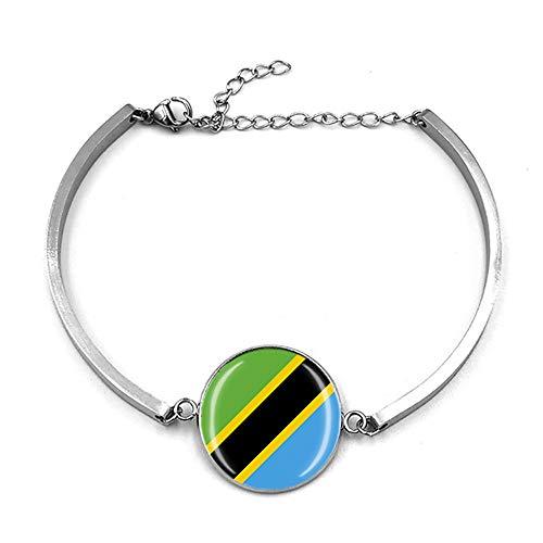 Bracelet réglable style drapeau de la Tanzanie - Cadeau souvenir de voyage