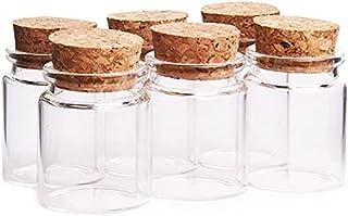 Annfly Lot de 6 mini flacons en verre pour épices - Pour la fabrication de bijoux, perles, loisirs créatifs, décoration (6...