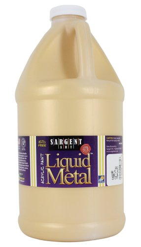 Sargent Art, Gold Liquid Metal Acrylic Paint, 64 oz