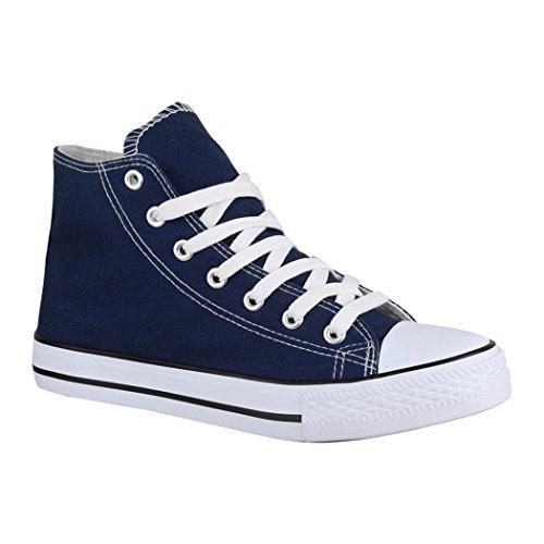 Elara Zapatilla Unisex Zapatos Deportivos Cómodos Mujer y Hombre Textil High Top Chunkyrayan Azul Marino 014-A-XG201 Navy-41