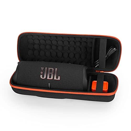 Estuche Funda para JBL Charge 4/JBL Charge 5 Altavoz Inalámbrico Portátil con Bluetooth,Caja Cubrir EVA Duro Caso Recorrido de Estéreo Bolsa de Almacenamiento Viajar Bolso (Orange)