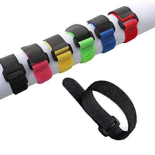 Aiqeer 30 Piezas 20 X 2 cm Reutilizables Cable Ties, Bridas de...