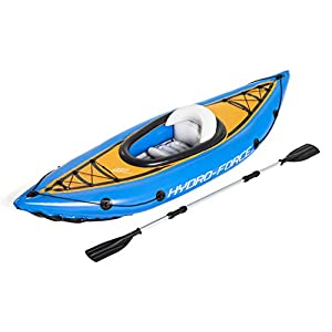 Bestway 65115 - Kayak Hinchable Hydro-Force Cove Champion 275x81 cm Individual con Remo y Bomba 4