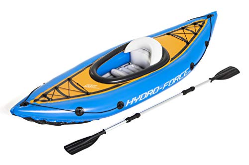 Bestway 65115 Hydro-Force aufblasbares Kajak Cove Champion mit Paddel 275 x 81 x 45 cm, Color