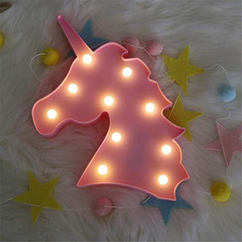 MTX Ltd Veilleuse Modélisation Super Fire Pony Lampe de Table Licorne Rose Veilleuse Fille Coeur Chambre Décoration Romantique