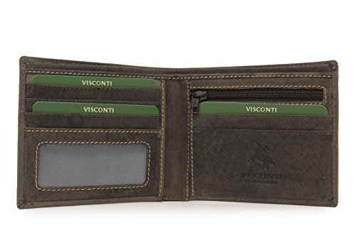 Visconti Hunter 707 ID and Card Holder Wallet in Distressed Leather
