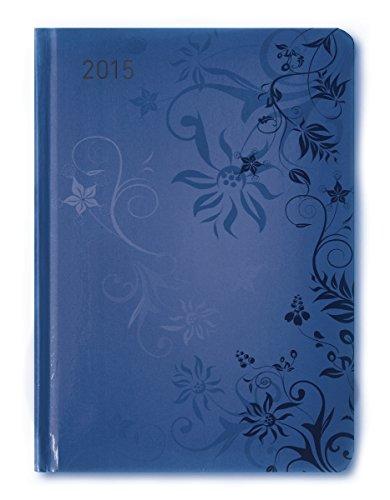 Ladytimer Blue Flowers 2015 - Taschenplaner / Taschenkalender A6 - Weekly - 192 Seiten