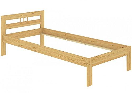 Erst-Holz® Bettgestell Einzelbett Massivholz Kiefer Natur 100x200 Futonbett ohne Zubehör 60.64-10 oR