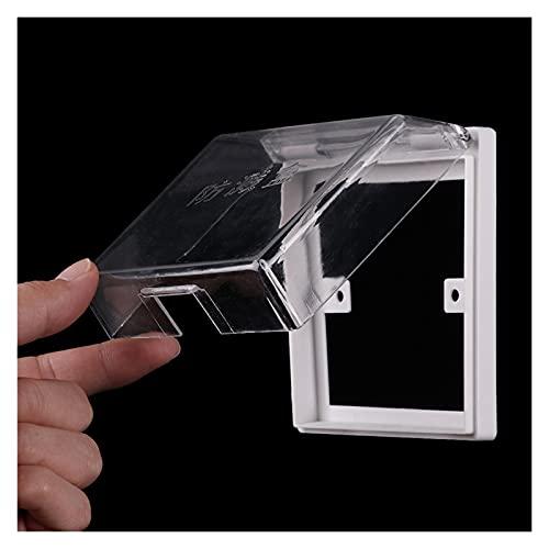 Panel de caja impermeable con enchufe de pared, 1 unids protector de enchufe de enchufe eléctrico, caja de salpicaduras transparente seguridad de seguridad de seguridad para niños a prueba de agua par