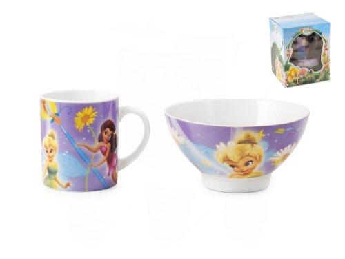 Disney 9328700 Home Set Bols Fairies préparation Petit déjeuner décoration de Table