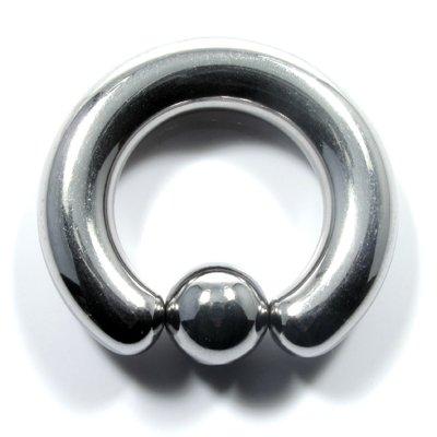 ボディピアス 2G キャプティブビーズリング 内径13mm ボール8mm ボディーピアス 耳ピアス 拡張 ラージサイズ ピアス シルバー リング ステンレス