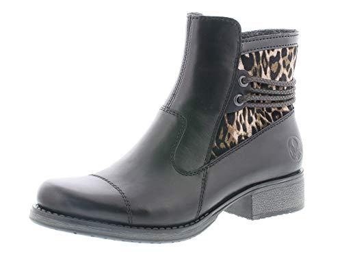 Rieker Damen Stiefeletten Y9760, Frauen Biker Boots, Lady Ladies feminin elegant Women's Women,schwarz,38 EU / 5 UK