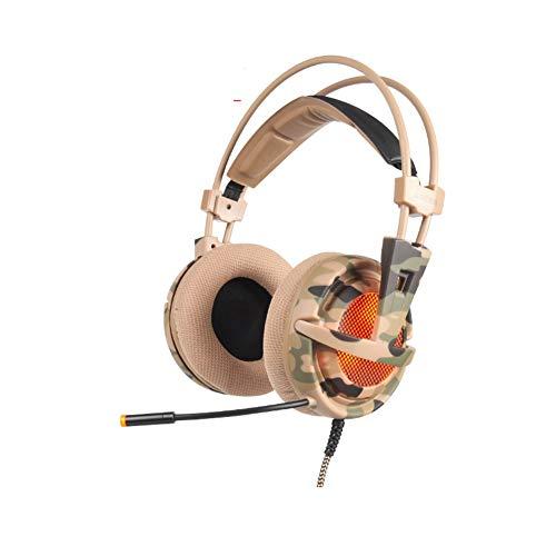 DZSF Spiel-Kopfhörer Stereo Wired USB 7.1Gaming Kopfhörer Über Ohr Mit Mic Voice Control Für Laptop-Computer-Spiel,B