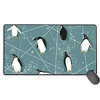 ペンギン柄 マウスパッド 大型 ゲーミングマウスパッド キーボードパッド 防水マウスパッド 拡張マウスパッド 滑り止め ゲーム向け オフィス おしゃれ 750*400*3mm