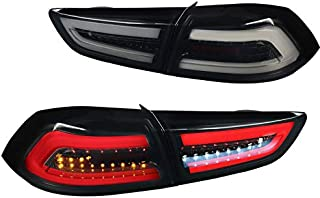 For Mitsubishi Lancer/Lancer EVO X Full LED Glossy Black Brake Tail Lights Pair
