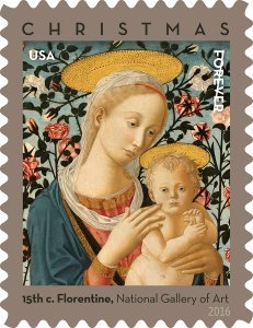Florentine Madonna and Child USPS Forever First Class Postage Stamp U.S. Holiday Christmas Sheets (20 Stamps) (Booklets of 20 stamps) (5 Pack)