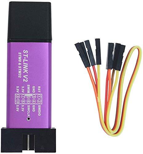 ICQUANZX Unité de Programmation St-Link V2 Mini STM8 Téléchargeur d'émulateur STM32 M89 Nouveau (Couleur aléatoire)