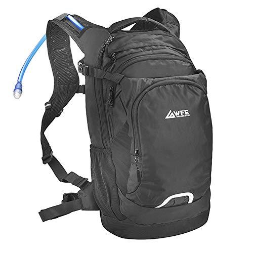 WILD FOR EVER Fahrradrucksack für Damen Herren - 18L Outdoor Rucksack zum Wandern Klettern Skifahren & Reisen - Atmungsaktiv mit vielen Fächern Sicherheitsverschluss & Regenhülle