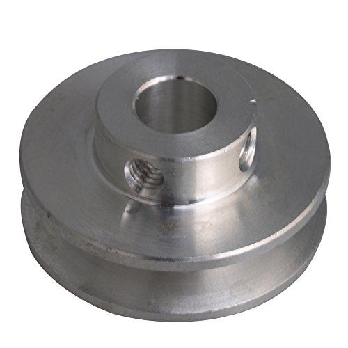 Polea con Ranura en V para Eje de Motor de CNBTR (aleación de Aluminio, 3 – 5 mm, para Correa Redonda de Poliuretano), Color Plateado