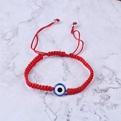 DONTHINKSO Turco Protección del Mal de Ojo Kabbalah Pulseras de Hilo Rojo Joyería de Mano de Fátima