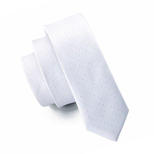 Jason & Vogue slim line Design étroit Cravate en Motif Blanc Fein