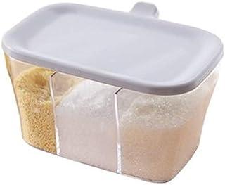 SPNEC Cuisine Organisateur Boîtes de Rangement avec Pot épices Assaisonnement Transparent Bouteille Sucre sel Accessoires ...