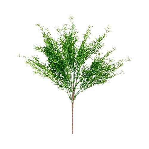 Vosarea 1 unid Decorativo Creativo Realista Realista Planta de simulación de Agua Hoja de Helecho Plantas Verdes Artificiales para Boda en casa