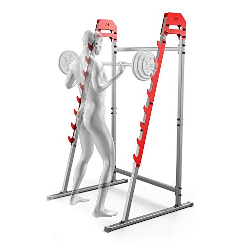K-Sport SQUAT STAND TSPORT POWER STATION BENCH PRESS RACK HOME GYM BARBELL RACK