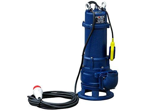 Rotek 3,0kW / 400V elektrische Schmutzwasser Tauchpumpe mit Schneidwerk und Stahlgehäuse