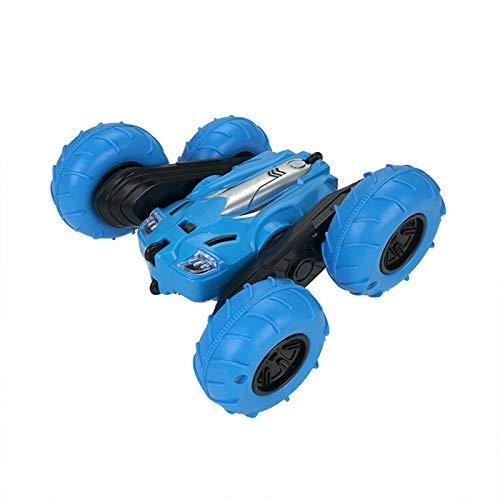 Coche De Juguete De Control Remoto Anticaída Inflable para Niños, Juego De Juguete De Coche De Control Remoto Recargable De Alta Velocidad Regalo con Luz,Azul
