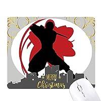 武士道武士刀シルエットさくら日本アジア クリスマスイブのゴムマウスパッド