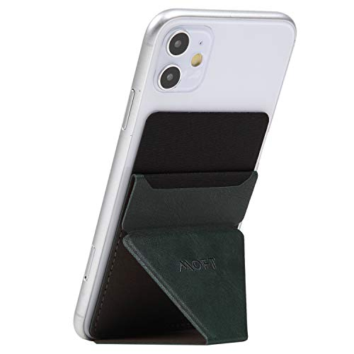 MOFT X スマホスタンド 折りたたみ 卓上 軽量 極薄 スマホホルダー スキミング防止カードケース iPhone/Xperia/Galaxy/HUAWEI/AQUOS(ミッドナイトグリーン)