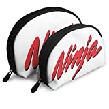 Nija-Ka-wasa-ki - Juego de 2 Bolsas de cosméticos con Logo de Nija-Ki, Bolsa de Almacenamiento portátil