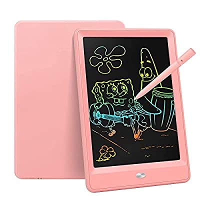 Bravokids Toys for 3-6 Years Old Girls Boys, LCD Writing Tablet 10 Inch Doodle Board, Electronic Drawing Tablet Drawing Pads, Educational Birthday Gift for 3 4 5 6 7 8 Years Old Kids Toddler (Pink) by Bravokids