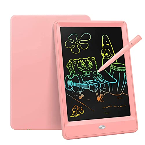 Bravokids Toys for 3-6 Years Old Girls Boys, LCD Writing Tablet 10 Inch Doodle Board, Electronic Drawing Tablet Drawing Pads, Educational Birthday Gift for 3 4 5 6 7 8 Years Old Kids Toddler (Pink)