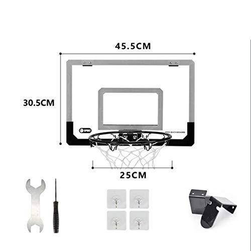 softneco Mini Basketball Ring Über Der Tür,Wandmontage Flex Rim Mit Feder Indoor Outdoor,Spielzeug Basketballkorb Für Kinder A