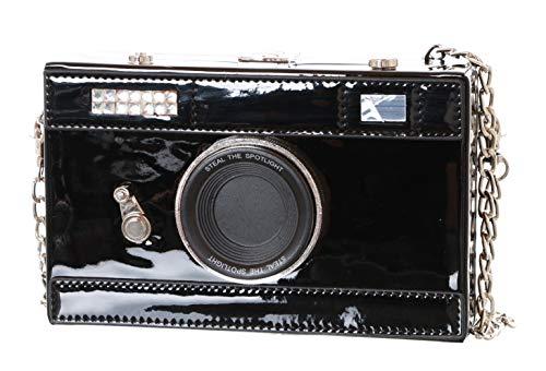 LB-200 Foto-Kamera Optik Schwarz Lack Retro Vintage Hand Tasche Kawaii Harajuku