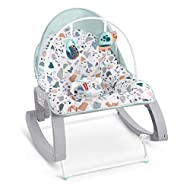 Convertible baby seat for feeding, playing or soothing for use from infant to toddler (up to 40 lb/18 kg) Adjustable seatback with two-position recline, plus fold-out kickstand for stationary seating Calming vibrations help soothe your baby, and remo...